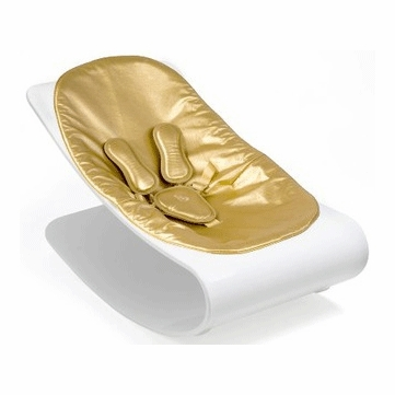 Bloom Coco Plexistyle White Frame Baby Lounger in Solar Gold
