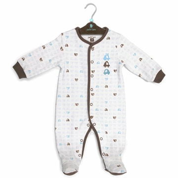 Petit Lem Knit Footie Sleeper - Small Cars - 3 Months