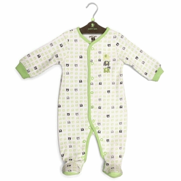Petit Lem Knit Footie Sleeper - Small Elephants - Newborn
