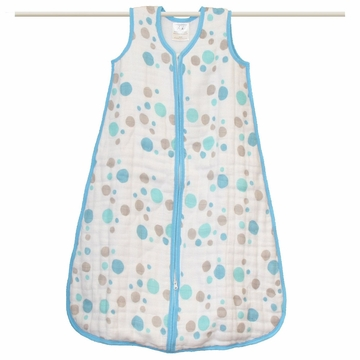 Aden + Anais Muslin Cozy Sleeping Bag - Star Bright - Blue Dots - Small