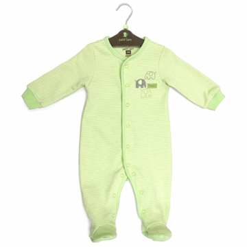 Petit Lem Knit Footie Sleeper - Newborn - Stripe Elephant