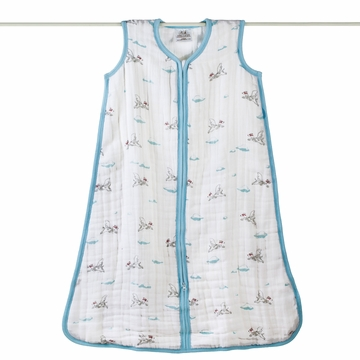Aden + Anais Muslin Cozy Sleeping Bag - Liam the Brave - Dogs - Large