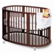 Stokke Sleepi Crib in Walnut with FREE Colgate Foam Mattress