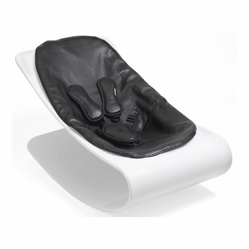 Bloom Coco Style Wood Beach House White Baby Lounger in Midnight Black