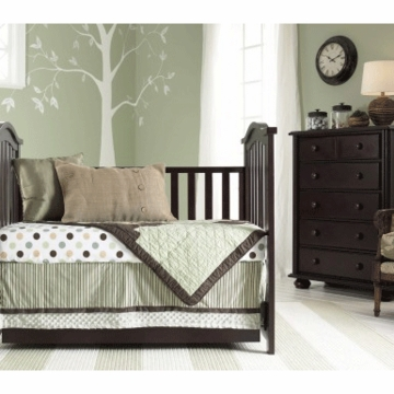 Bonavita Classic Hudson 3 Piece Nursery Set in Chocolate - Crib, Double Dresser & 5 Drawer Dresser