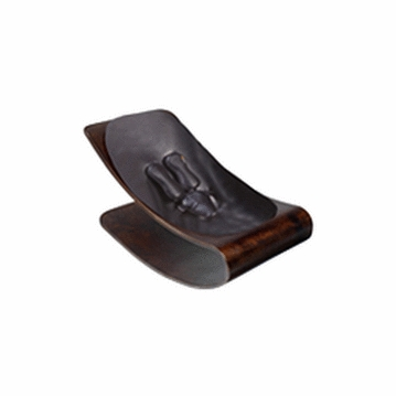 Bloom Coco Style Wood Cappuccino Baby Lounger in Snake Skin Black