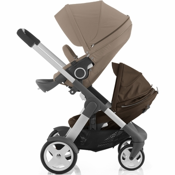 Stokke Crusi Double Stroller - Brown