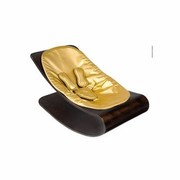 Bloom Coco Style Wood Cappuccino Baby Lounger in Solar Gold