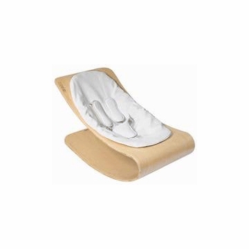 Bloom Coco Style Wood Natural Baby Lounger in Lunar Silver