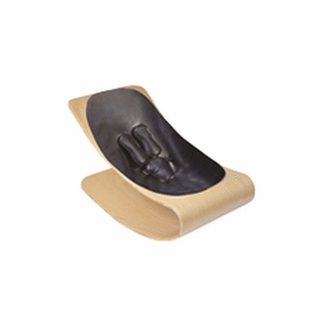 Bloom Coco Style Wood Natural Baby Lounger in Snake Skin Black