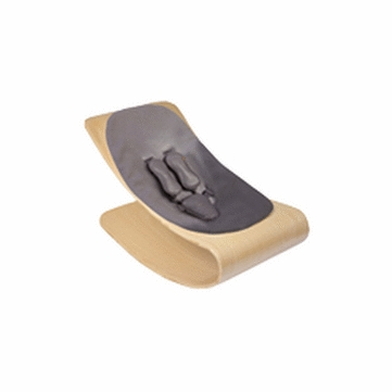 Bloom Coco Style Wood Natural Baby Lounger in Snake Skin Grey