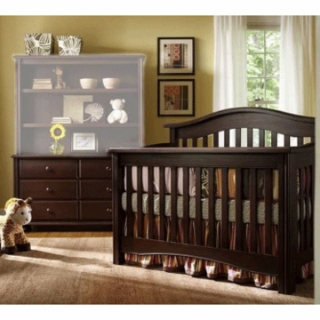 Bonavita Lifestyle Hudson 2 Piece Nursery Set in Chocolate - Crib & Double Dresser