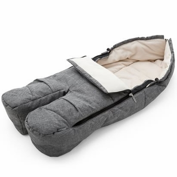Stokke Footmuff in Black Melange