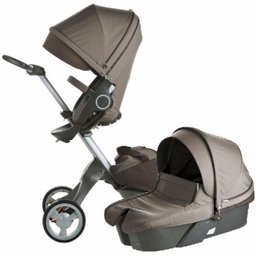 Stokke XPLORY Newborn Stroller in Brown