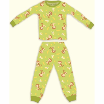 Apple Park Monkey Pajama - 6 to 12 Months