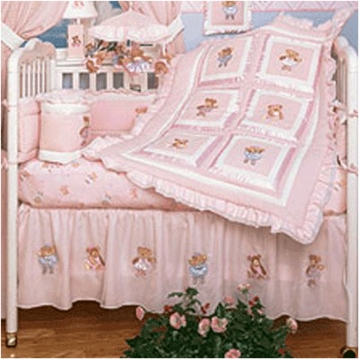 KidsLine Twinkle Toes 6 Piece Crib Bedding Set