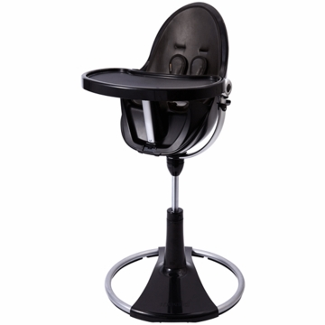 Bloom Fresco Highchair with Black Frame in Midnight Black (Leatherette)