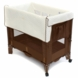 Arm's Reach Mini Convertible Co-Sleeper in Cocoa with Natural Liner