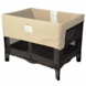 Arm's Reach Original Co-Sleeper Bassinet in Black with Toffee Liner