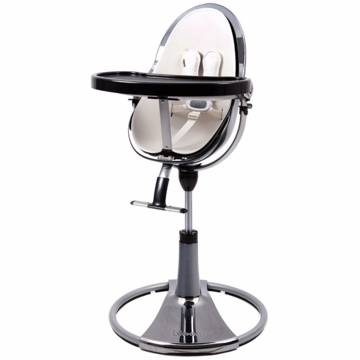 Bloom Fresco Highchair with Mercury Frame in Coconut White (Leatherette)