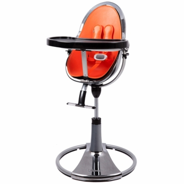 Bloom Fresco Highchair with Mercury Frame in Harvet Orange (Leatherette)