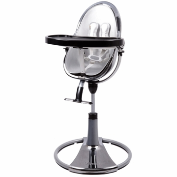 Bloom Fresco Highchair with Mercury Frame in Lunar Silver (Leatherette)