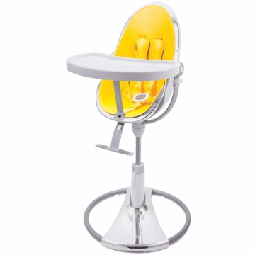 Bloom Fresco Highchair with Silver Frame in Canary Yellow