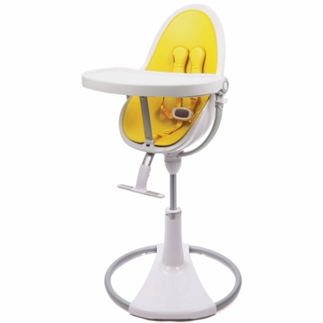 Bloom Fresco Highchair with White Frame in Canary Yellow