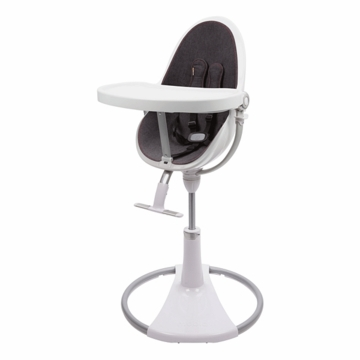 Bloom Fresco Highchair with White Frame in Diesel Denim
