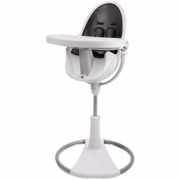 Bloom Fresco Highchair with White Frame in Midnight Black (Leatherette)