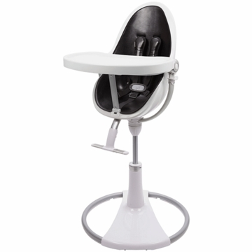Bloom Fresco Highchair with White Frame in Snake Skin Black