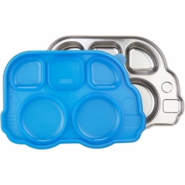 Innobaby Din Din Smart Stainless Divided Platter with Sectional Lid - Blue