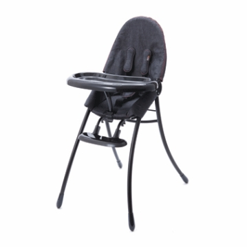 Bloom Nano Highchair with Black Frame in Downtown Denim