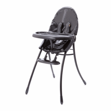 Bloom Nano Highchair with Black Frame in Snake Skin Black