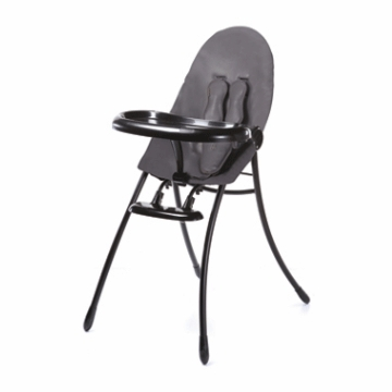 Bloom Nano Highchair with Black Frame in Snake Skin Grey