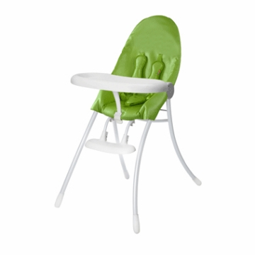 Bloom Nano Highchair with White Frame in Green