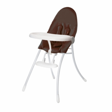 Bloom Nano Highchair with White Frame in Henna Brown