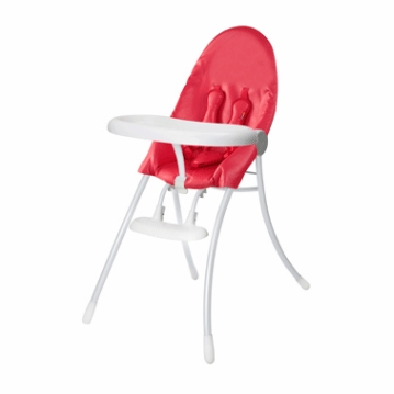 Bloom Nano Highchair with White Frame in Red