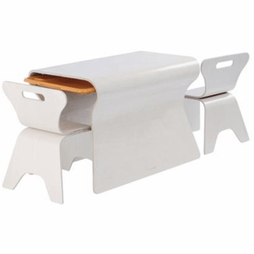 Bloom Otto Table & Chair Set in Beach House White