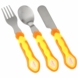 Vital Baby First Stainless Steel Cutlery Set in Orange