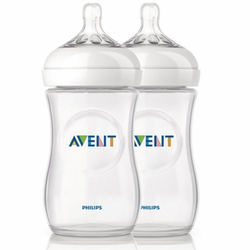 Avent Natural 9 oz 2 pk Bottle (PP)