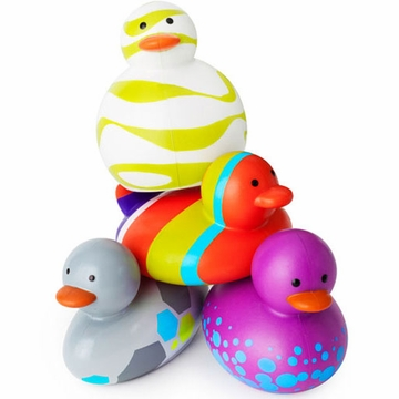 Boon Odd Ducks Not Your Average Rubber Ducky in Multicolor - Purple - 4 Pack