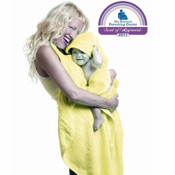 Simply Good Hands Free Hooded Baby Towel - Yellow