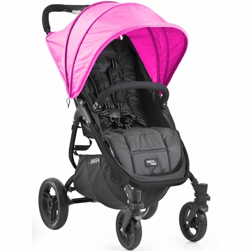 Valco Snap 4 Stroller and Hood - Black/Hot Pink