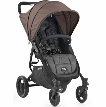 Valco Snap 4 Stroller and Hood - Black/Spice