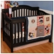 KidsLine Vintage Mickey 4 Piece Baby Crib Bedding Set
