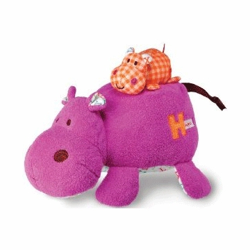"Kids Preferred 10"" H is for Hippo Mama-Baby Action Musical"