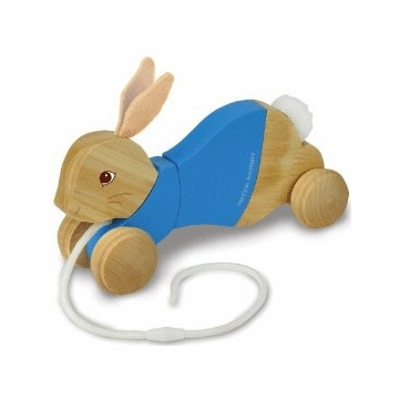 "Kids Preferred 9"" Peter Rabbit Wood Pull Toy"