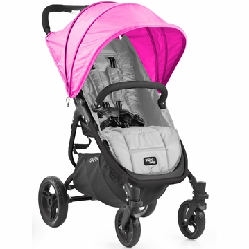 Valco Snap 4 Stroller and Hood - Silver/Hot Pink