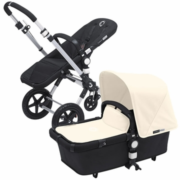 Bugaboo Cameleon 3 Bundle - Black Base / Off White Fabric Set